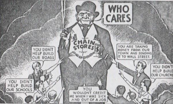 1930s anti-chain cartoon