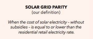 Solar Grid Parity-definition