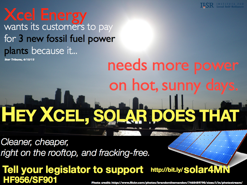 Xcel Energy should use solar for peak power