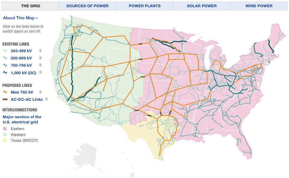 us electric grid existing and proposed transmission lines