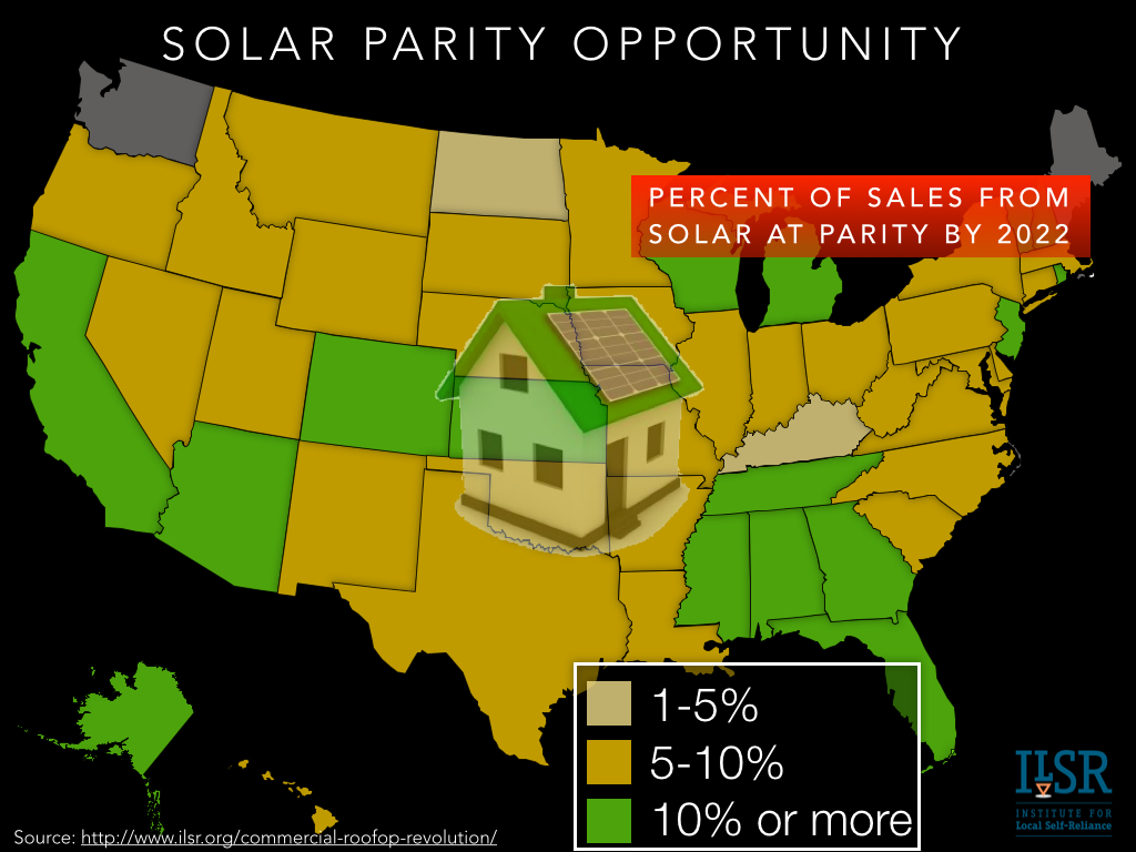 rooftop solar parity opportunity 2022 - ilsr