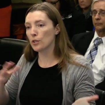 Photo: Testifying at CPC Hearing