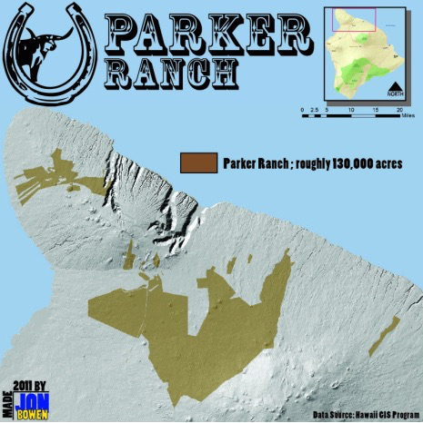 parker ranch map