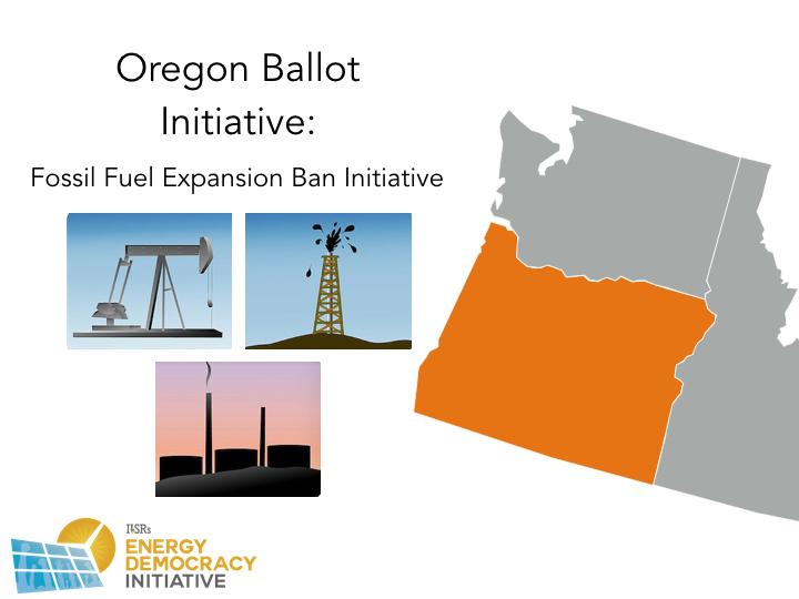 Oregon 2016 Energy Ballot Initiatives