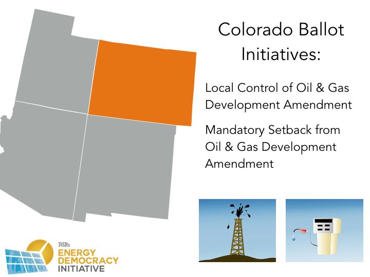 Colorado 2016 Energy Ballot Initiatives