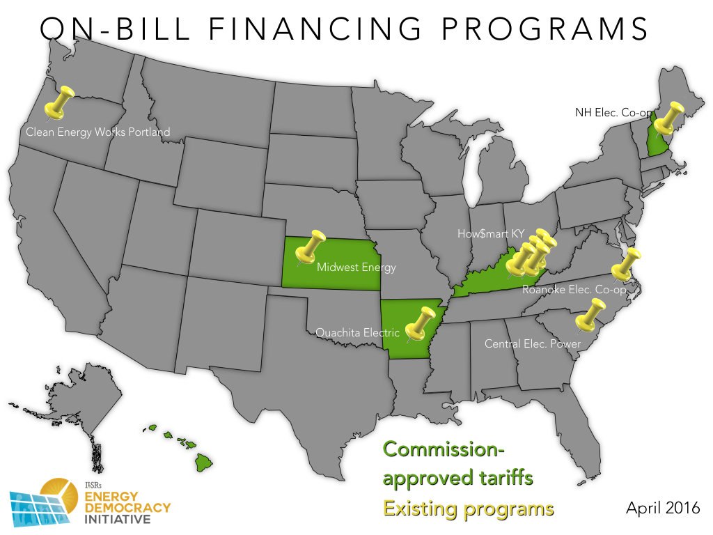 On Bill Repayment Map - April 2016