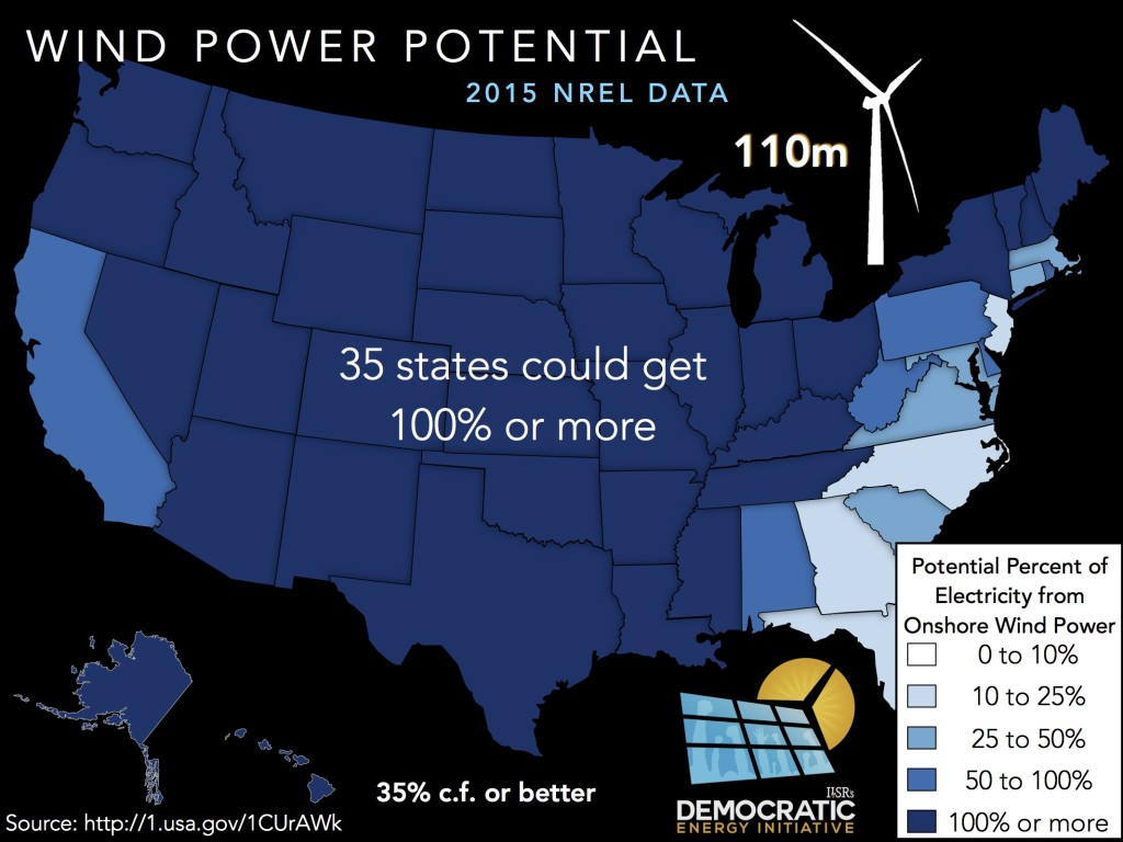 wind power potential usa 110m by state ilsr 2016
