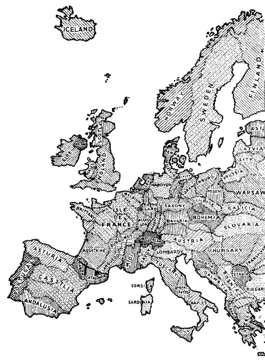 European map of nations