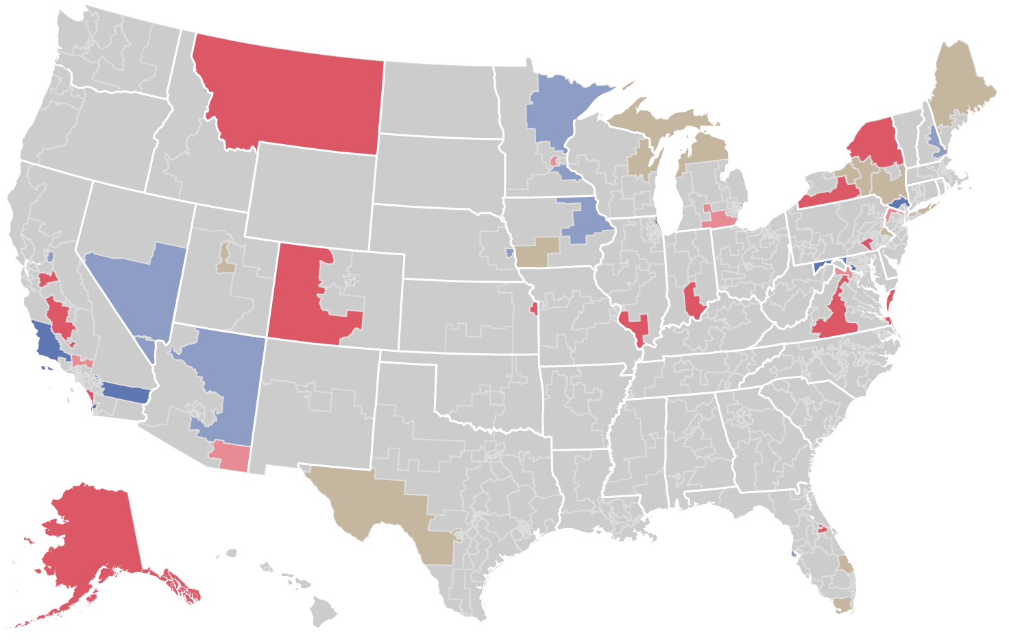 competitive house districts on map