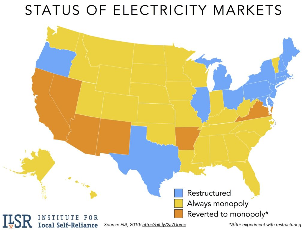 status-of-state-electricity-markets-regulated-deregulated