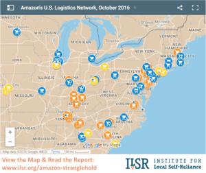 Mapping Amazon's U.S. Logistics Network