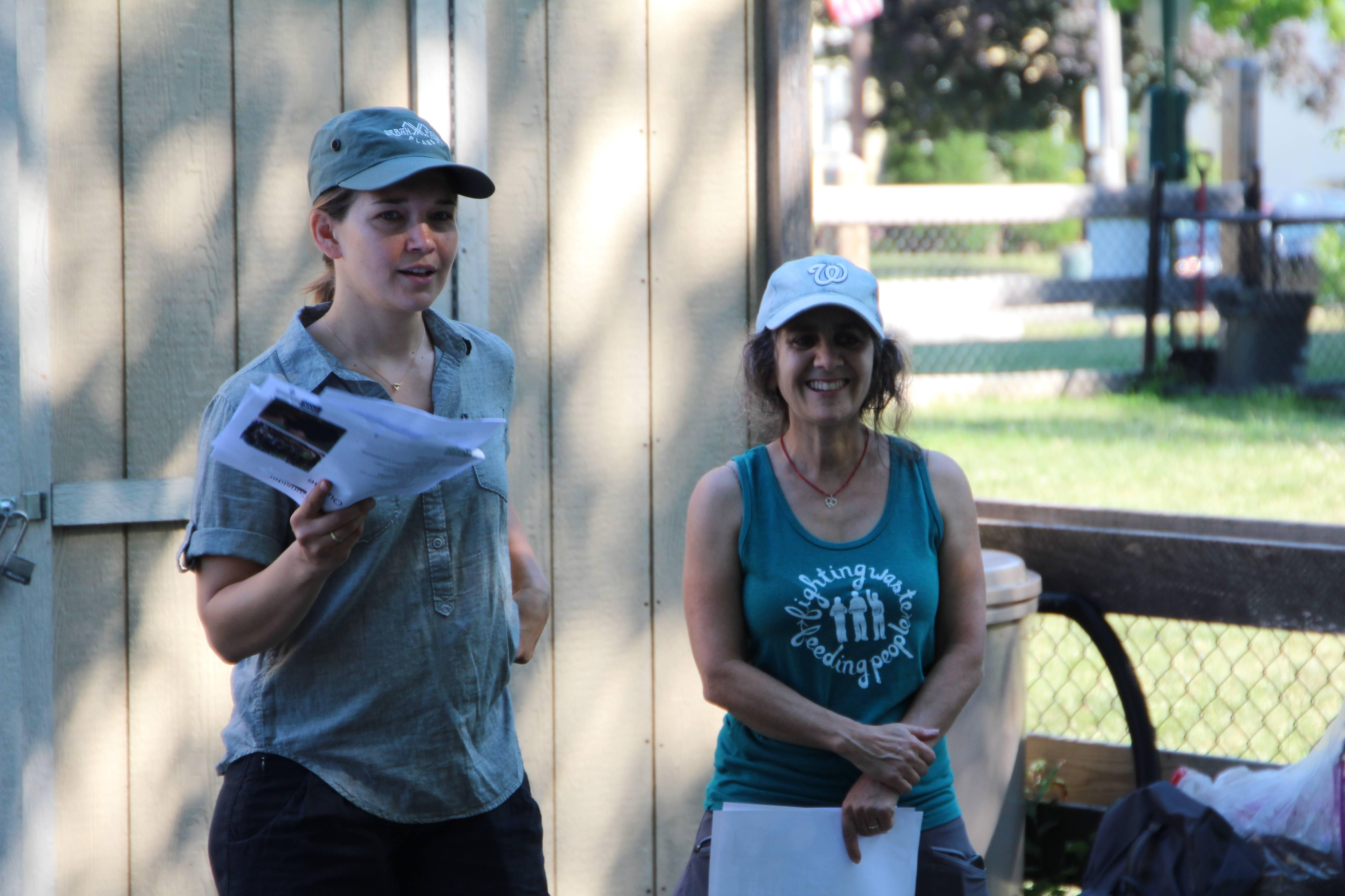 Linda Bilsens Brolis (L) and Brenda Platt (R), the leaders of the training.