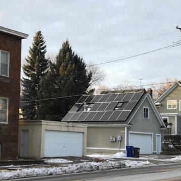 Saint Paul, Minn — Solar Array Garage Winter 2018 (c) Marie Donahue | Energy Democracy 2018 NYE Local Energy Rules Episode