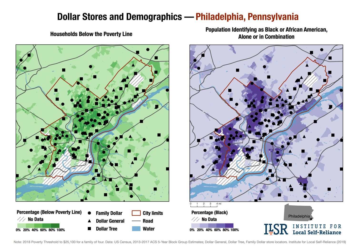 Maps Show Alarming Pattern Of Dollar Stores Spread In U S Cities Institute For Local Self Reliance